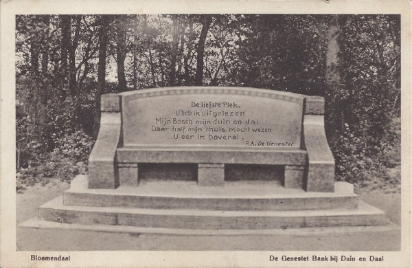 Lage Duin en Daalscheweg, Genestetbank, 1916