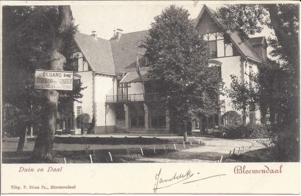 Koninginneduinweg, Hotel Duin en Daal, 1902 (2)
