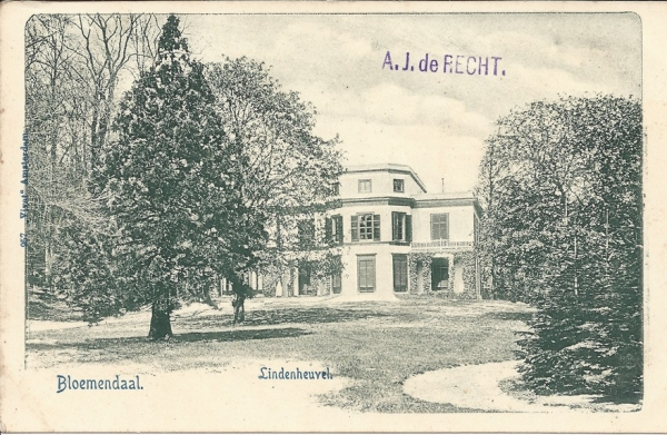 Bloemendaalscheweg, Overbeek, Lindenheuvel, 1902 (1)