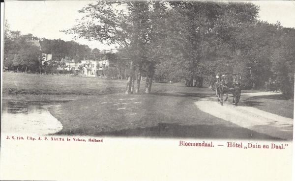 Lage Duin en Daalscheweg, Hotel Duin en Daal, 1904