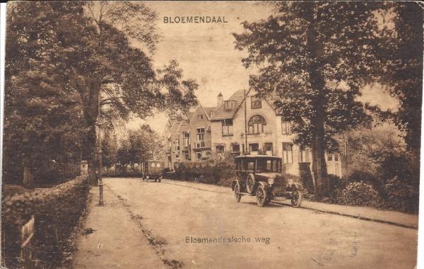 Bloemendaalscheweg, zicht op Dompvloedslaan, 1930