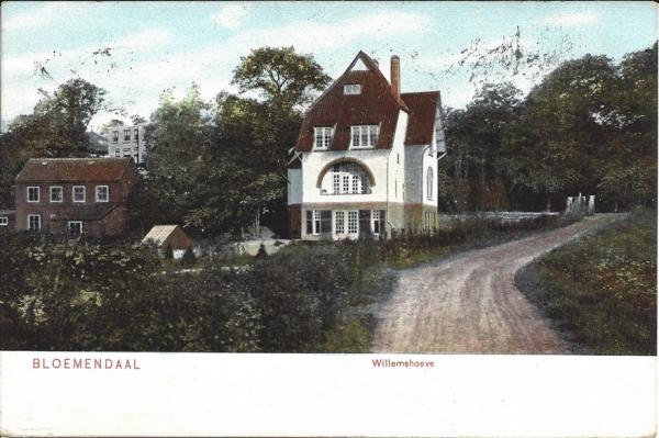 Bloemendaalscheweg, Willemshoeve, 1907