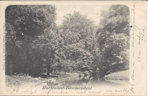 Vijverweg, Hotel Hartenlust, Hertenbaan, 1901 (2)