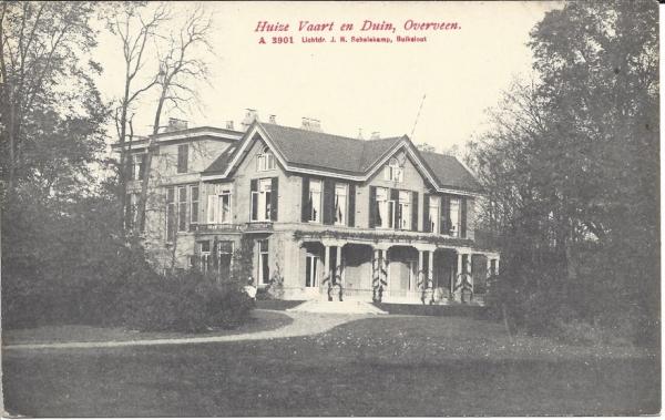 Korte Zijlweg, Huize Vaart en Duin, 1912
