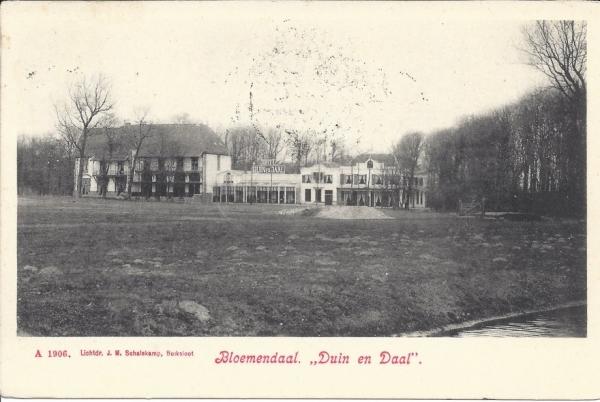 Lage Duin en Daalscheweg, Hotel Duin en Daal, 1908