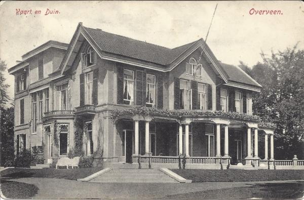 Korte Zijlweg, Huize Vaart en Duin, 1911