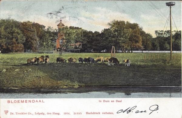 Lage Duin en Daalscheweg, Halve Maantje, 1908