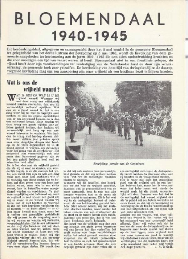 Bloemendaal 1940 - 1945
