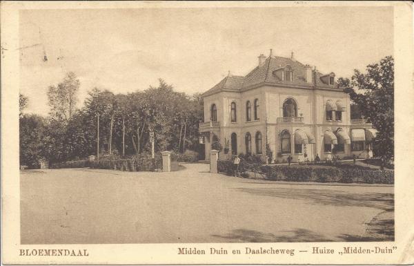 Midden Duin en Daalscheweg, Huize Midden-Duin, 1928