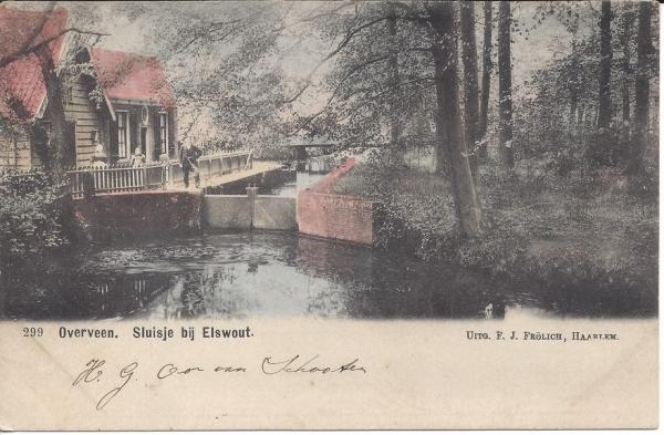 Elswoutslaan, Sluisje Elswout, 1903