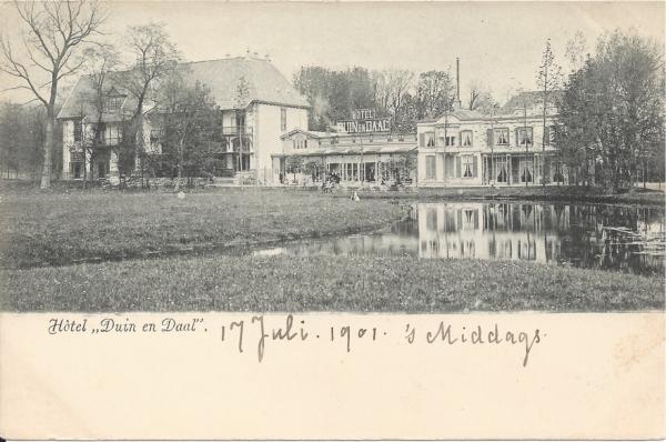 Koninginneduinweg, Hotel Duin en Daal, 1901