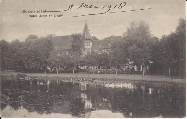 Lage Duin en Daalscheweg, Hotel Duin en Daal, 1918