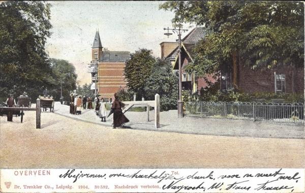 Bloemendaalscheweg, hoek Zijlweg  Tol, 1904