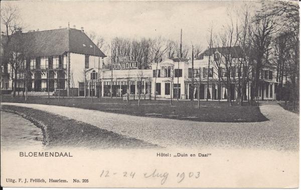 Koninginneduinweg, Hotel Duin en Daal, 1903 (1)
