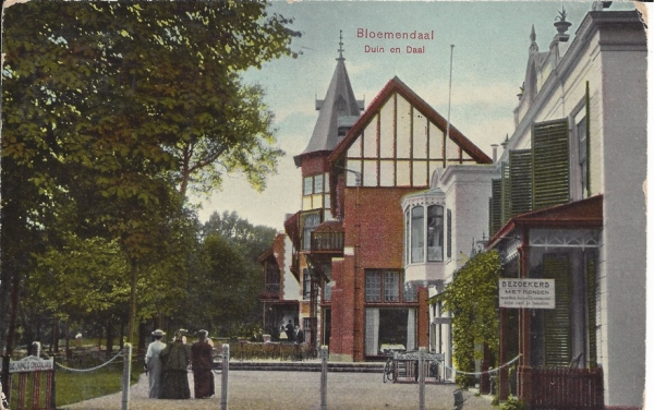 Koninginneduinweg, Hotel Duin en Daal, 1908