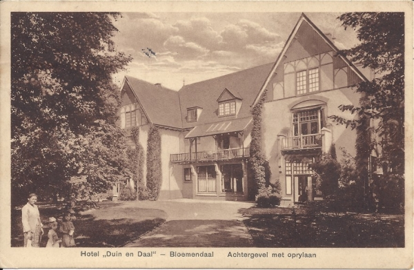 Koninginneduinweg, Hotel Duin en Daal, 1927 (2)