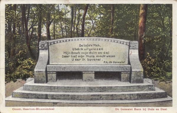 Lage Duin en Daalscheweg, Genestetbank, 1917