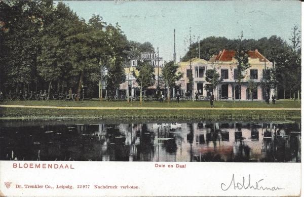 Lage Duin en Daalscheweg, Hotel Duin en Daal, 1904 (4)