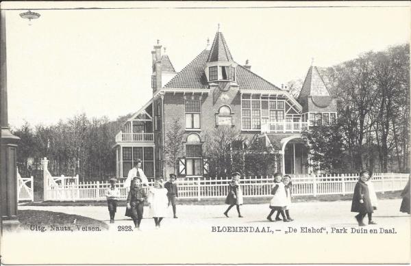 Lage Duin en Daalscheweg 2. Villa De Elshof, 1904