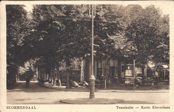 Korte Kleverlaan, Halte Tram, 1925