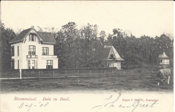 Lage Duin en Daalscheweg, 1908