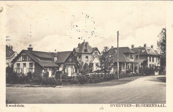 Militairenweg, hoek Kweekduinweg, 1915