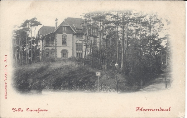 Parkweg, Villa Duinhoeve, 1902