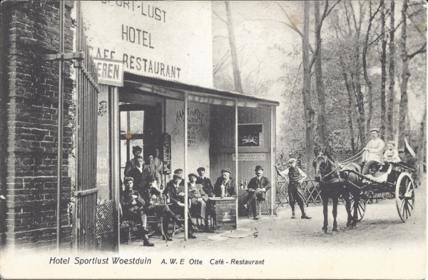 Woestduinlaan, Café Sportlust Woestduin, 1908