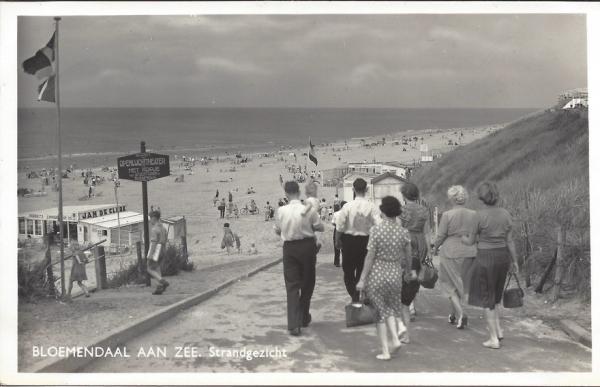 Zeeweg, B'daal aan Zee, 1955 (2)