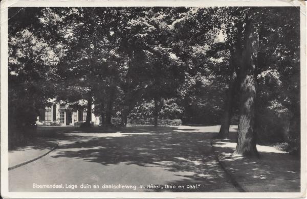 Lage Duin en Daalscheweg, 1938