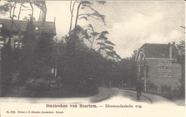 Bloemendaalscheweg, richting Julianalaan, 1902
