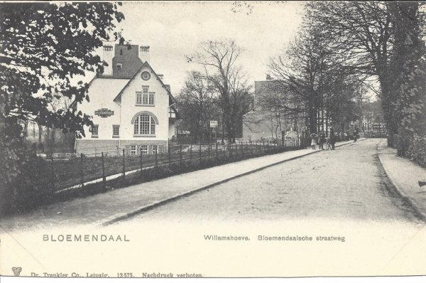 Bloemendaalscheweg, Willemshoeve, 1904