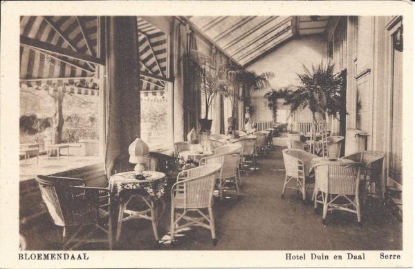 Koninginneduinweg, Hotel Duin en Daal, Serre