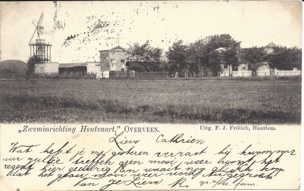 Houtvaart, Zwembad de Houtvaart, 1900