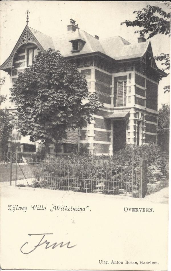 Zijlweg, Villa Wilhemina, 1904