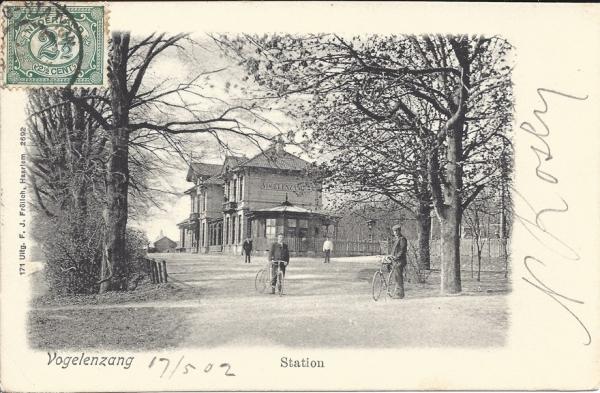 Leidschevaart, Station Vogelenzang 1902