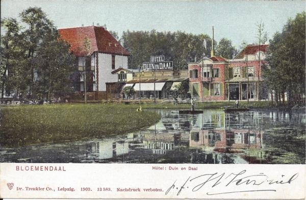 Koninginneduinweg, Hotel Duin en Daal, 1904 (3)