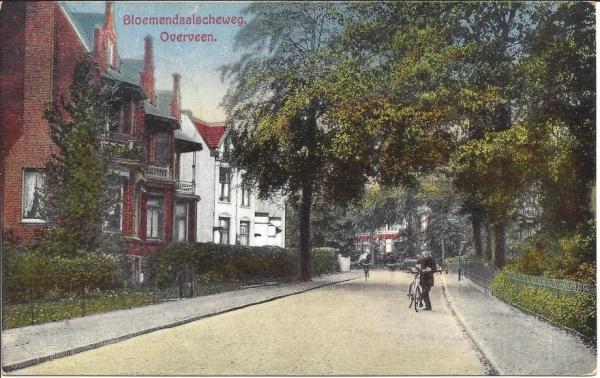 Bloemendaalscheweg, zicht op Cearalaan, 1929