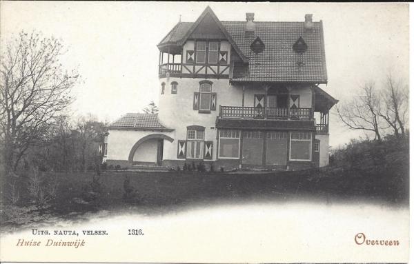 Ter Hoffsteedeweg, Huize Duinwijck, 1900