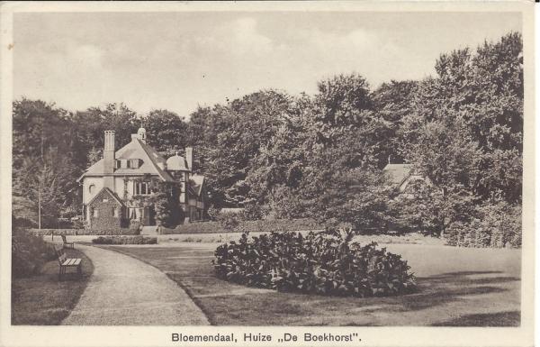 Midden Duin en Daalscheweg, Huize de Boekhorst, 1952