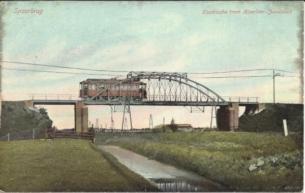 Leidschevaart, Spoorbrug Tram, 1907