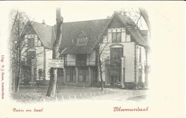 Koninginneduinweg, Hotel Duin en Daal, 1902 (1)
