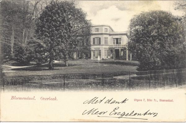 Bloemendaalscheweg, Overbeek, 1907