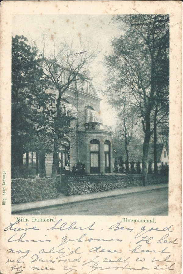 Kweekduinweg, Villa Duinoord, 1920