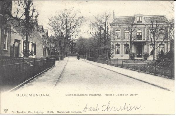 Bloemendaalscheweg, Huize Beek en Duin, 1903