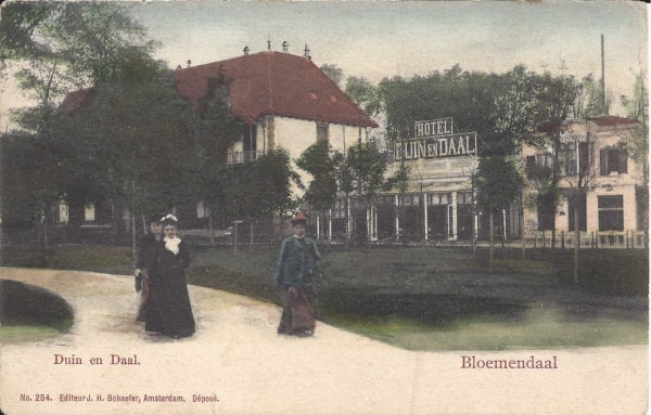 Koninginneduinweg, Hotel Duin en Daal, 1904 (1)